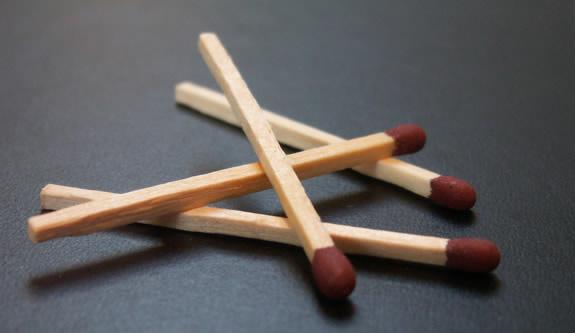 Tændstikker er lavet af asp.