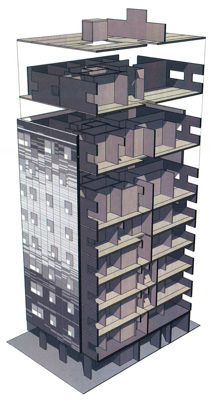 Verdens højeste træhus - tegning