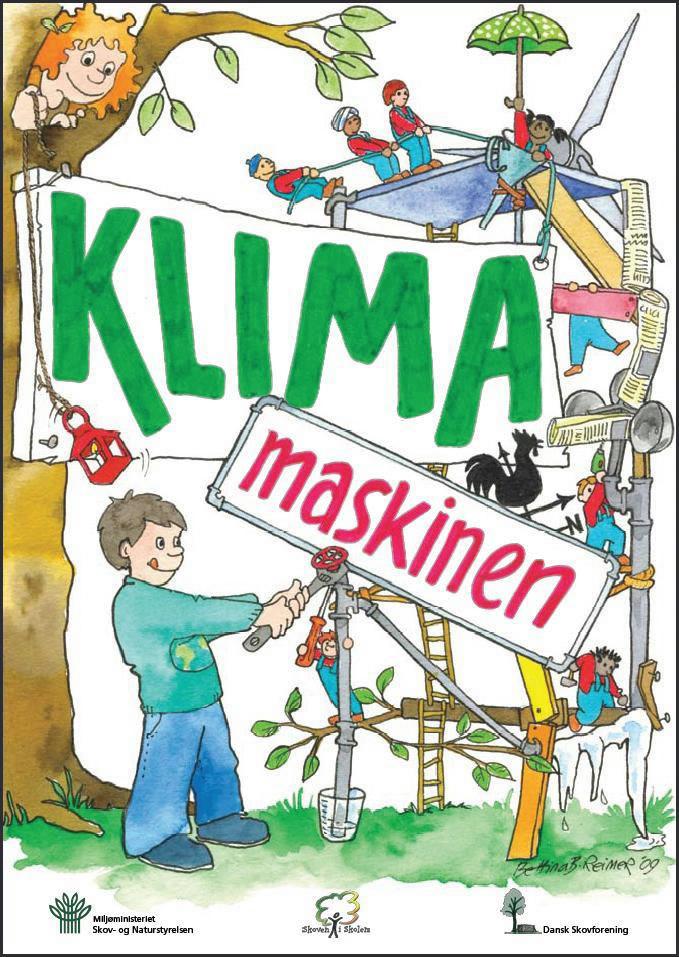 """Forside af børnehæftet """"Klimamaskinen"""""""