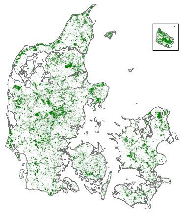 Kort over de danske skove