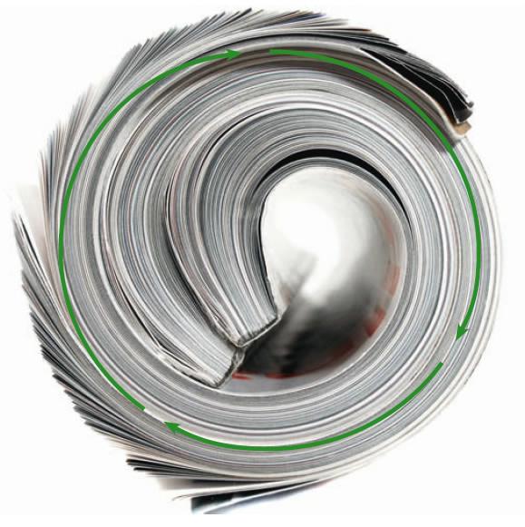 Hvis man bruger 30 minutter på at læse nyheder, er klimapåvirkningen mindst hvis man bruger et papirmedie (Foto: Skogsindustrierna)