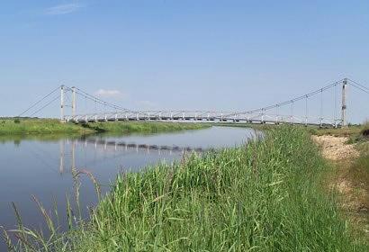 Hængebro over Skjern å