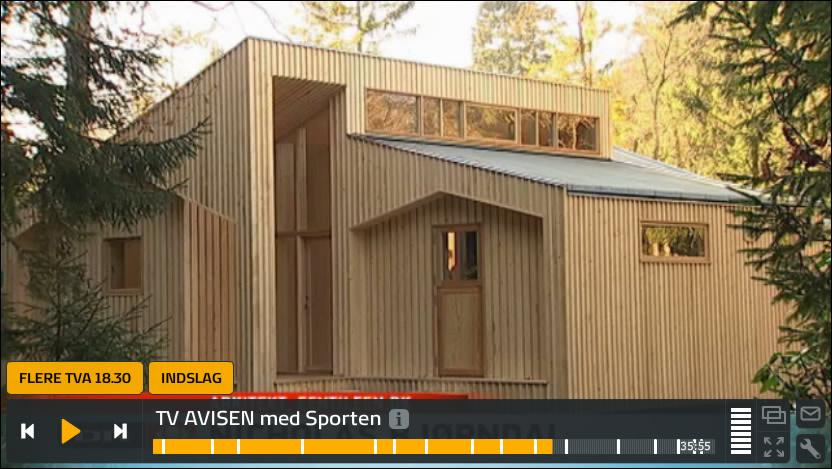 Indslag fra TV-Avisen om hvordan man printer et træhus