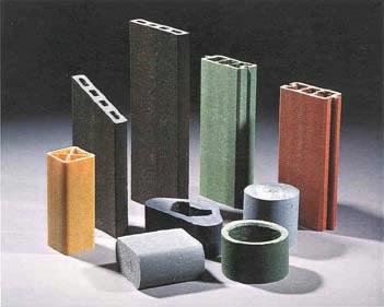 Eksempel på træplast-produkter
