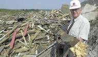 deponering af imprægneret træ er slut