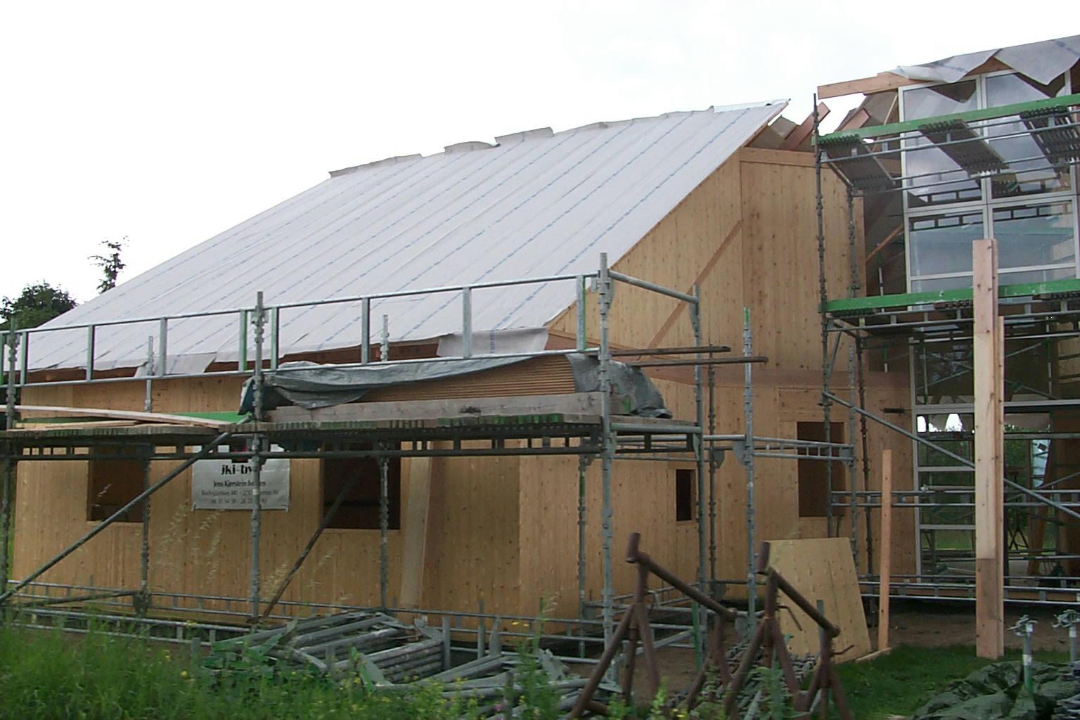 Prøvehuset på Krogsborgvej er opført med massivtrævægge.