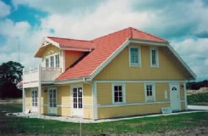 Anneberg hus - et eksempel på svensk typehus der kan opføres på en dag.