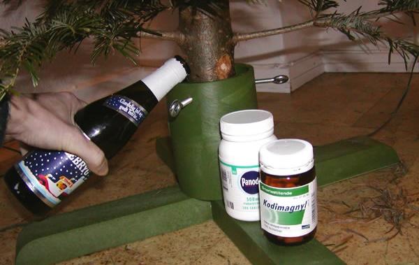 juletræ og øl