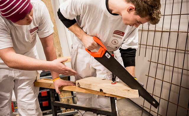 Tømrerlever konkurrerer
