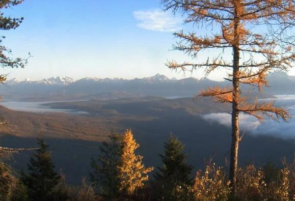 Et flot efterårsbillede, snuppet fra et webcam i Glacier National Park, USA