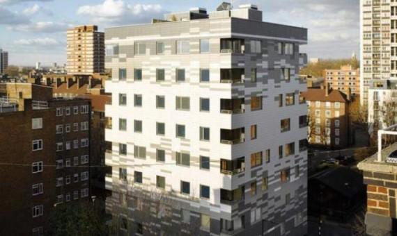 Murray Grove - 9-etager trækonstruktion af CLT i London