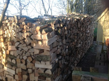 Brænde af blandet løvtræ