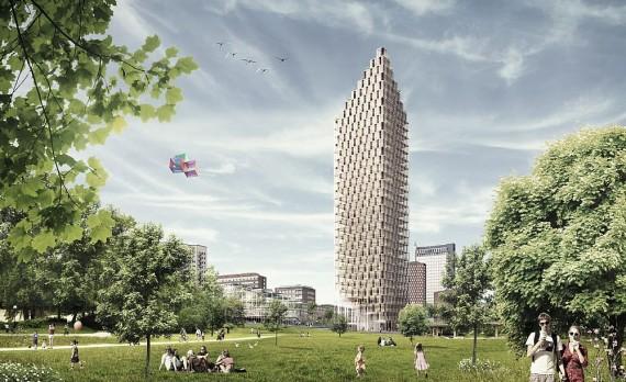 34 etager skyskraber af trae - C. F. Moeller