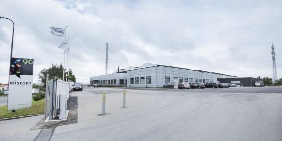 Riisforts har til huse i Brabrand i ved Aarhus. Foto: Riisfort A/S