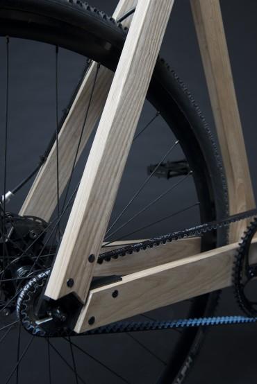 Træcyklen benytter remtræk i stedet for almindelig kæde (Foto: Paul Timmer)