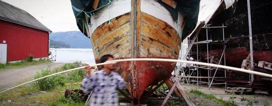 Restaureringen af norsk træbåd