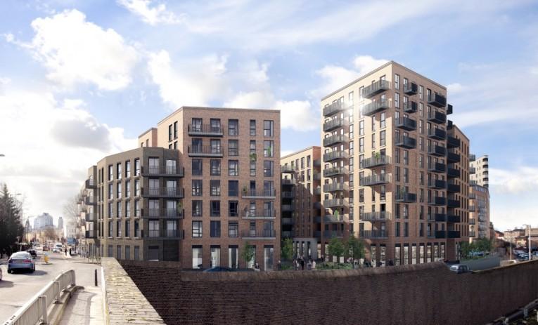 CLT byggeriet på Dalston Lane i Londonbydelen Hackney bliver verdens største CLT byggeri