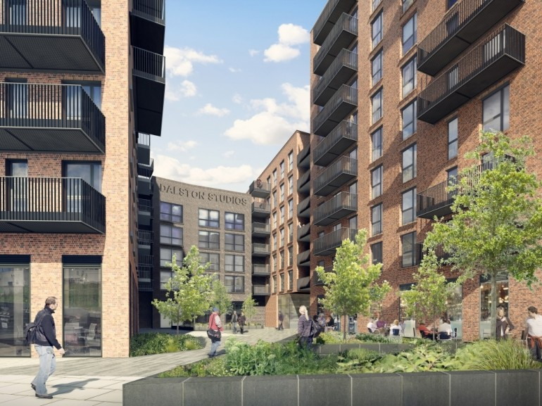 CLT byggeri Dalston Lane London