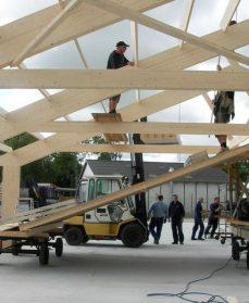 Tagkonstruktion udført i limtræ fra Annebergs Limtræ