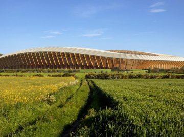 Fodboldstadion af træ
