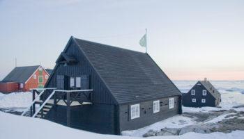 Historiske huse i Ilimanaq.