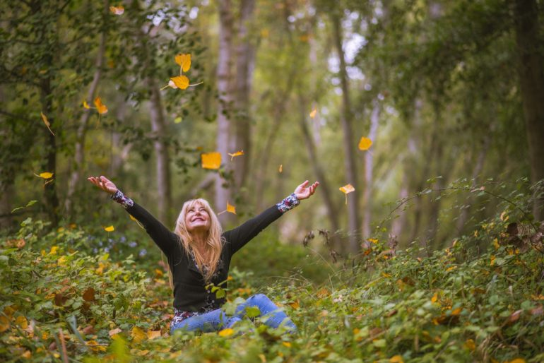 Glad i skoven