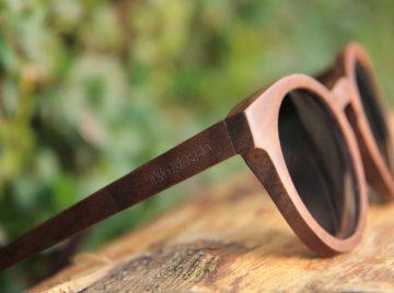 Timbered solbriller i træ